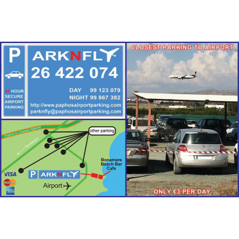 Park N Fly, Paphos Airport Parking.