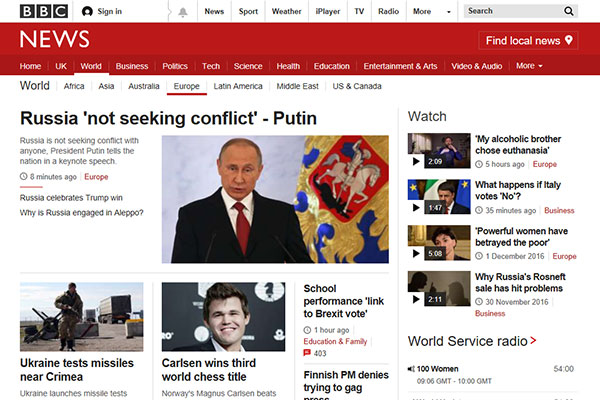 BBC UK Europe News